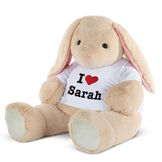 """4' """"I HEART You"""" T-Shirt Cuddle Bunny image number 0"""