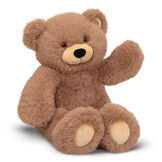 """18"""" Oh So Soft Teddy Bear - Front view of waving seated honey brown bear with tan muzzle and brown eyes image number 0"""