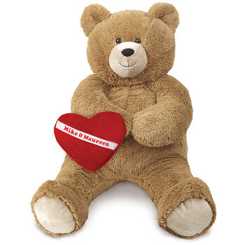 3' Lil' Hunka Love® Bear with Huggable Heart Pillow