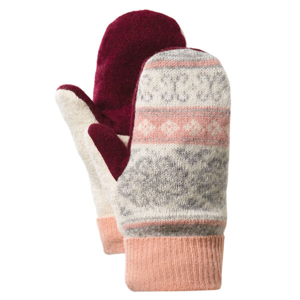 Bernie Mittens - Adult One Size Assorted multi colored wool blend mittens with fleece lining image number 7