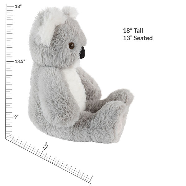 "18"" Oh So Soft Koala - Front view of seated 18"" gray koala with white muzzle, ears and belly measuring 18 in or 41 cm tall when standing image number 4"