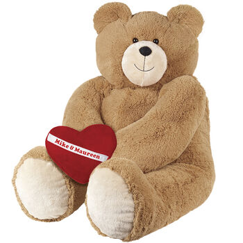 6' Giant Hunka Love® Bear with Heart Pillow