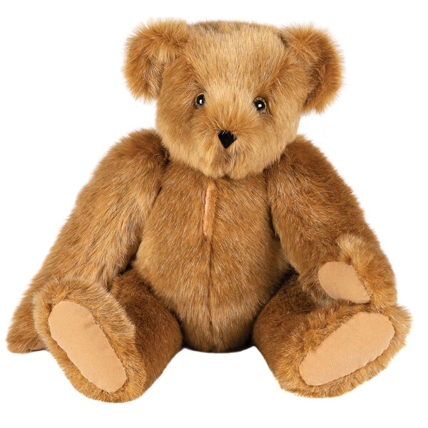"15"" Love Your Heart Bear - Front view of seated jointed bear with embroidered scar down center of chest image number 0"