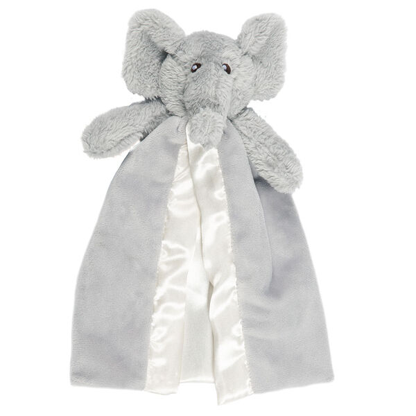 Elephant Buddy Blanket - Front view of gray elephant blanket with velcro strap for stroller image number 0