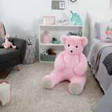4' Pink Cuddle Bear image number 1