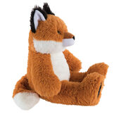 "18"" Oh So Soft Fox - Side view of seated red Fox with white belly, tail and muzzle and black tipped ears and foot pads image number 4"