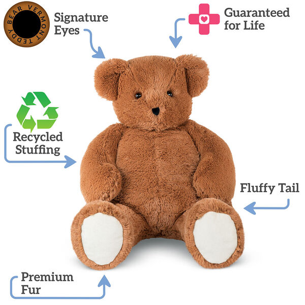 4' Brown Cuddle Bear image number 1