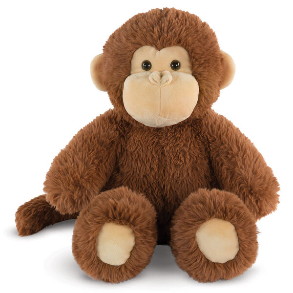 "18"" Oh So Soft Monkey - Front view of seated 18"" cinnamon brown monkey with tail and tan ears, muzzle and foot pads  image number 0"