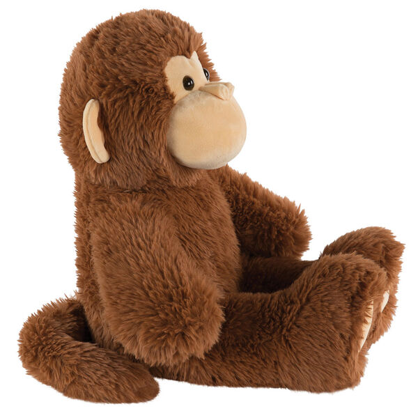 "18"" Oh So Soft Monkey - Side view of seated 18"" cinnamon brown monkey with tail and tan ears, muzzle and foot pads  image number 5"
