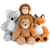 "18"" Oh So Soft Fox - Front view of seated 18"" Monkey, 18"" Fox, 18"" Lion and 18"" Koala image number 5"