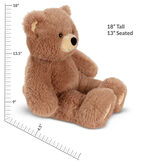 """18"""" Oh So Soft Teddy Bear - Side view of seated honey brown bear, measurements read, """"18"""" standing, 13"""" seated image number 5"""