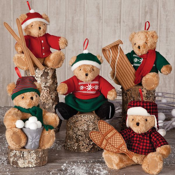 Vintage Inspired Holiday Ornaments - Set of 5 image number 0