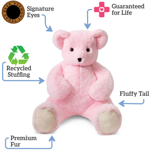 4' Pink Cuddle Bear image number 5