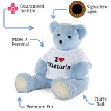 "4' ""I HEART You"" T-Shirt Blue Cuddle Bear image number 4"