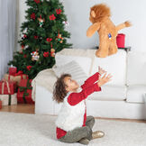 "18"" Oh So Soft Lion - Side view of 18"" lion being played with by a girl in a living room setting  image number 7"