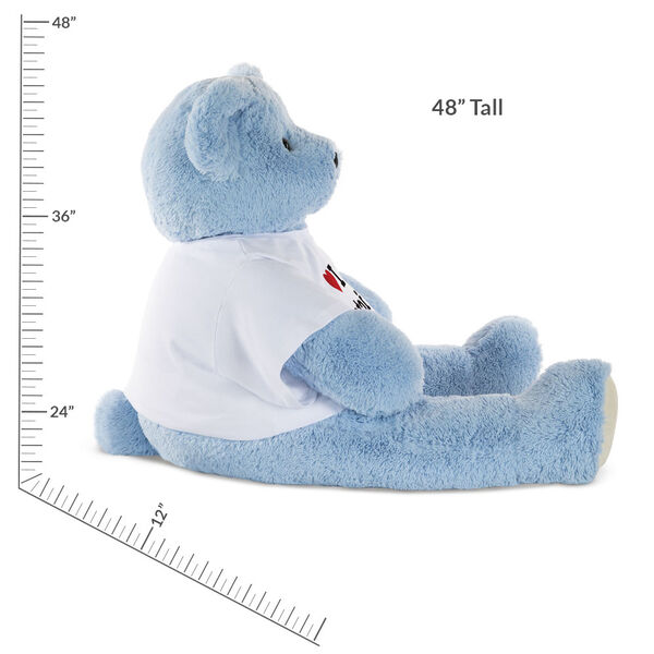 "4' ""I Heart You"" T-Shirt Blue Cuddle Bear image number 2"