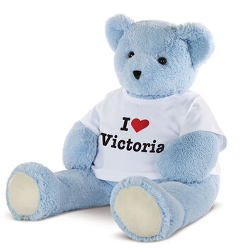 "4' ""I Heart You"" T-Shirt Blue Cuddle Bear"