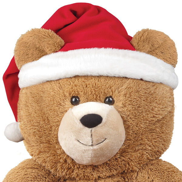 Lil' Hunka Love Santa Hat - 3' bear red velveteen hat with white fur trim image number 0