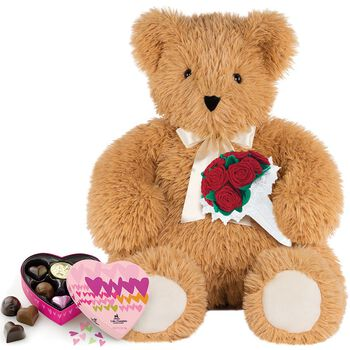 3' World's Softest Bear with Roses and Chocolates