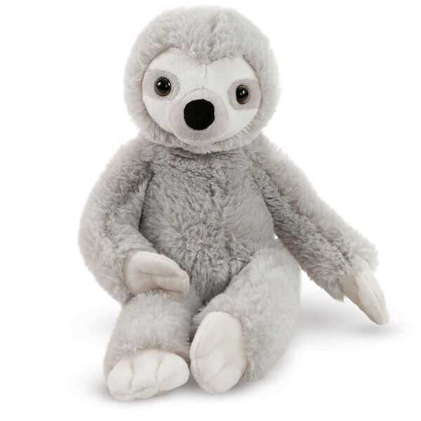 "15"" Buddy Sloth - Front view of seated slim gray and white Sloth image number 0"