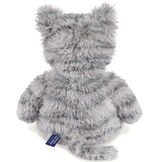 "18"" Oh So Soft Kitten - Back view of seated 18"" gray striped kitten with white muzzle, belly and foot pads  image number 6"