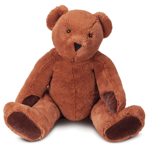 4' Classic Big Bear - front seated view on cinnamon brown bear with dark brown foot pads image number 1