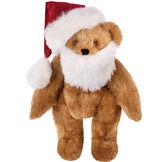 "15"" Santa Hat and Beard Set - Red velvet santa hat and white beard set image number 0"