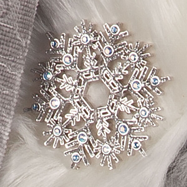 """15"""" Limited Edition Snowflake Santa - close up of snowflake against fur cuff image number 6"""