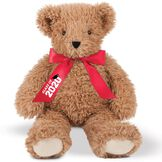 """18"""" Graduation Bear - Front view of seated almond brown super soft bear wearing red satin bow with """"Class of 2020"""" in white lettering with black graduation hat artwork. image number 0"""