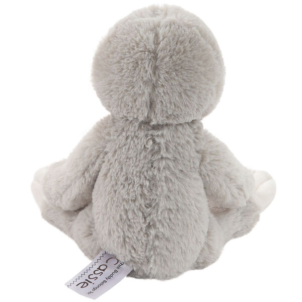 "15"" Buddy Sloth - Back view of seated slim gray and white Sloth image number 3"