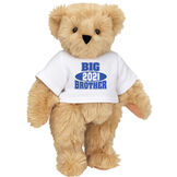 """15"""" 2021 Big Brother T-Shirt Bear - Standing jointed bear dressed in a white t-shirt with royal blue and white artwork that says, """"Big Brother 2021"""" on the front of the shirt - Maple image number 6"""