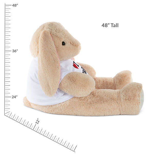 """4' """"I HEART You"""" T-Shirt Cuddle Bunny image number 3"""