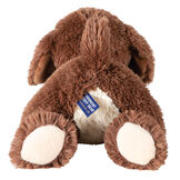 "15"" Belly Puppy Dog -Back view of German Chocolate Bear lying on its belly. Dog has tan underside image number 2"