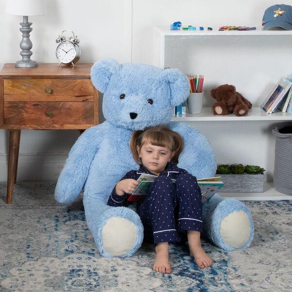 4' Light Blue Cuddle Bear image number 1