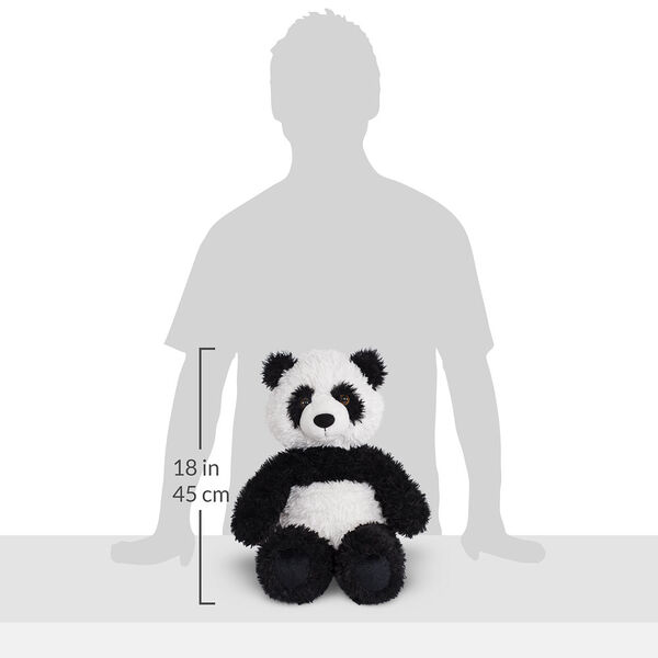 """18"""" Oh So Soft Panda Bear - Front view of seated black and white 18"""" Panda Bear with tail measuring 18 in or 41 cm tall when standing image number 6"""