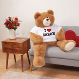 "4' Big Hunka Love® ""I HEART You"" T-Shirt Bear image number 1"