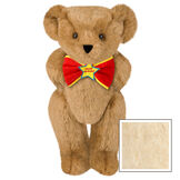 "15"" ""Happy Birthday"" Bow Tie Bear - Standing jointed bear dressed in red bow tie with yellow trim; ""Happy Birthday"" is embroidered on Star center - Buttercream image number 1"