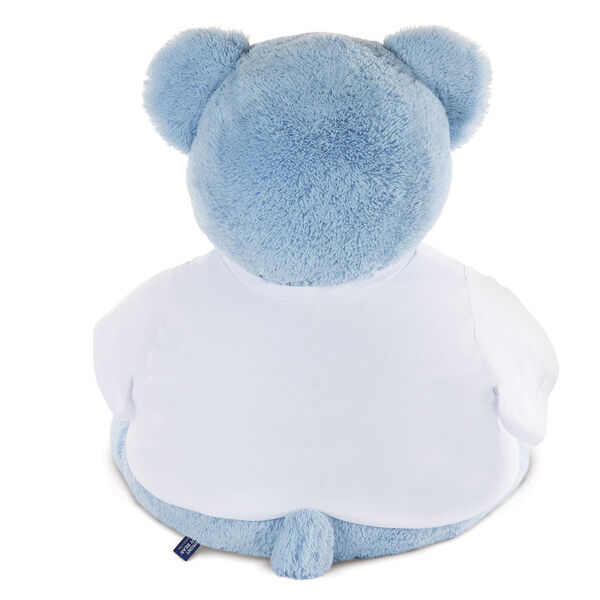 "4' ""I Heart You"" T-Shirt Blue Cuddle Bear image number 3"