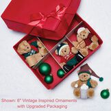 Vintage Inspired Holiday Ornaments - Set of 5 image number 1