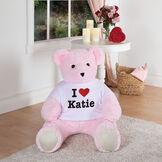 "4' ""I HEART You"" T-Shirt Pink Cuddle Bear image number 5"