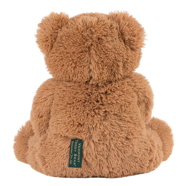 "18"" Love to the rescueandreg; Bear - Back view of seated fuzzy bear with brown eyes, tan muzzle and foot pads, black nose and smile image number 2"