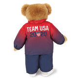 """15"""" Team USA Olympic Bear - Back View of red and blue track suit with Team USA 2020 and the Olympic Shield on the jacket image number 3"""