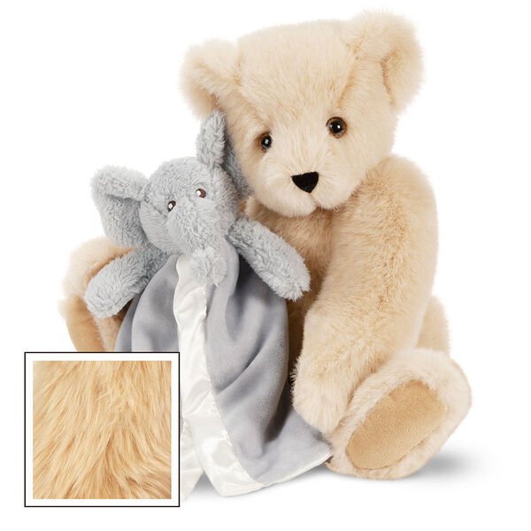 "15"" Cuddle Buddies Gift Set with Elephant Blanket - 15"" jointed seated bear with gray elephant blanket - Maple image number 6"