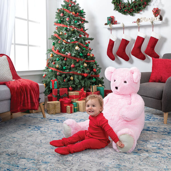 4' Pink Cuddle Bear image number 7