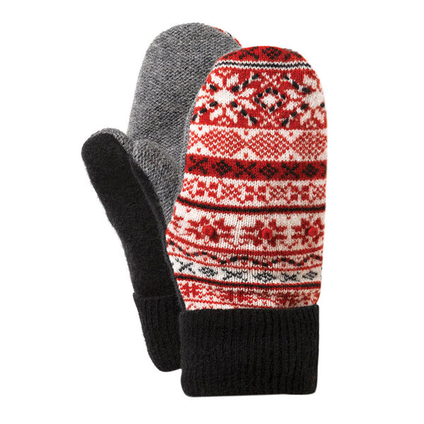 Bernie Mittens - Adult One Size Assorted multi colored wool blend mittens with fleece lining image number 10