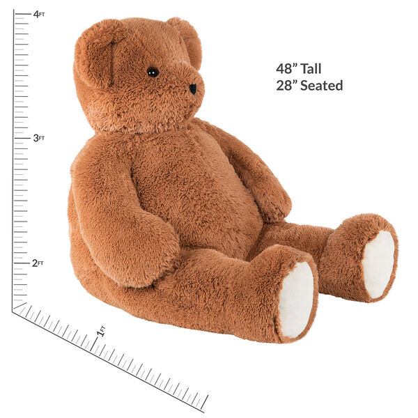 4' Brown Cuddle Bear image number 6