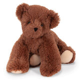 "15"" Belly Bear - Front view of German Chocolate Bear with back legs tucked under image number 0"