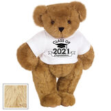 "15"" Graduation T-Shirt Bear - Standing jointed bear dressed in a white t-shirt with Class of 2021 on the front, personalized with ""Congratulations"" - Maple image number 6"
