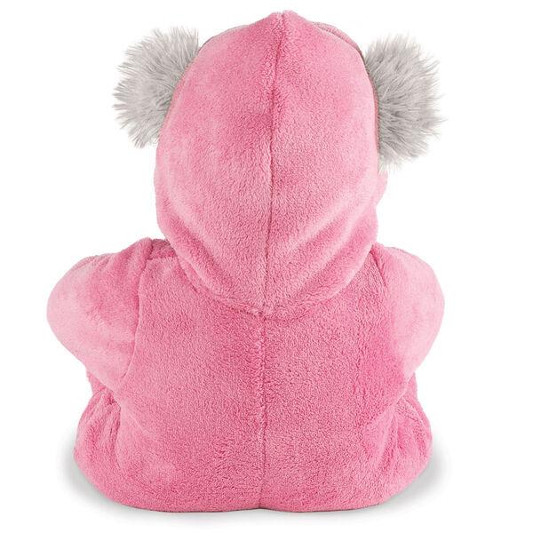 "18"" Gray Super Soft Pink Hoodie Footie Bear image number 3"