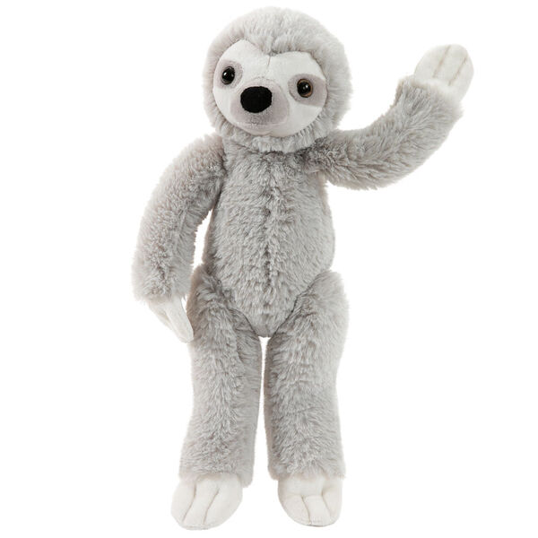 "15"" Buddy Sloth - Front view of standing slim gray and white Sloth image number 5"